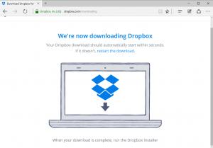 Hoàn thành đăng ký tài khoản dropbox